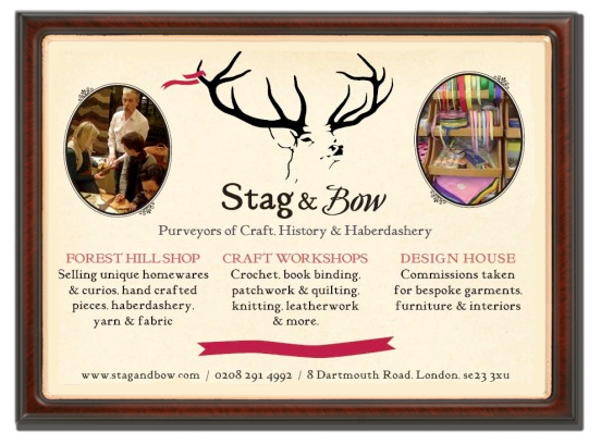 Stag & Bow sells Yarns, Haberdashery and Makers Wares