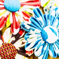 Decorative brooches - Fabric Flower
