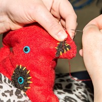 bold and bright stitches make this a fun gift for a young child