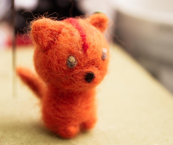 Needle felted little cat