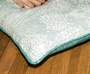 Cushion with Piping - beautiful fabric
