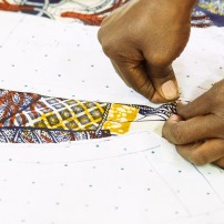 pinning the pattern pieces to your fabric