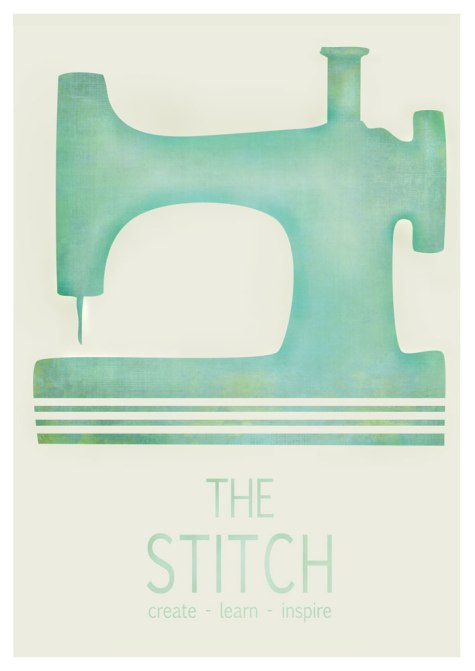 The Stitch Logo with texture - fundraising poster