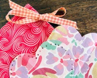 A love heart sewing kit and bag