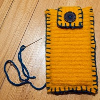 The gadget case finished but I think the Stitchee who made wants to buy it soooo... can't promise it will be on sale!