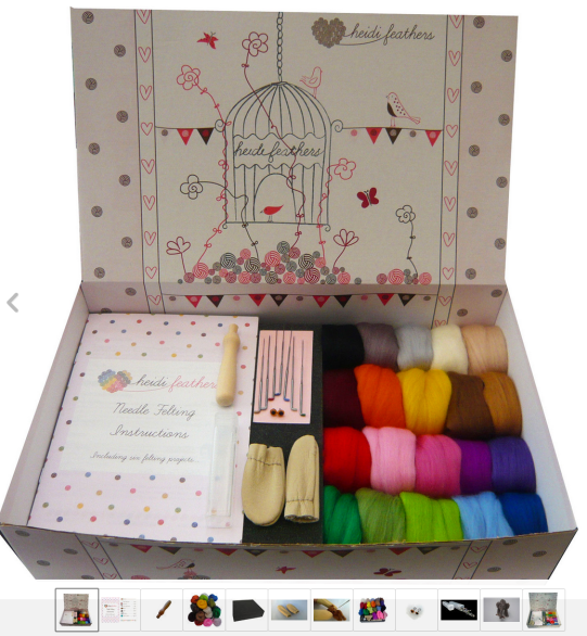 Heidifeathers Needle Felting Starter Kit