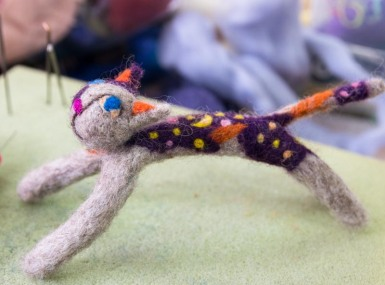 The Stitch Needle Session Felted Cat 080815 001