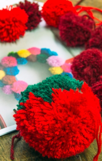 hmmm... once you make a pom pom successfully you want to make tons of them!
