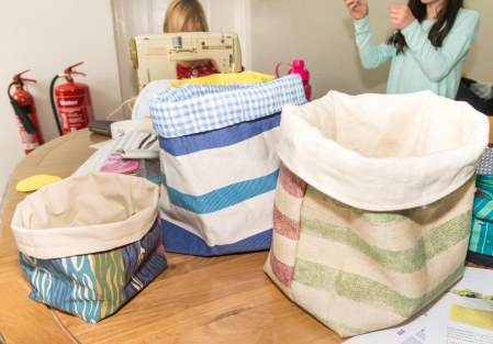 Fab collection of fabric storage baskets.