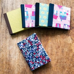 Mini notebooks & notebook covers (can be re-used again & again)