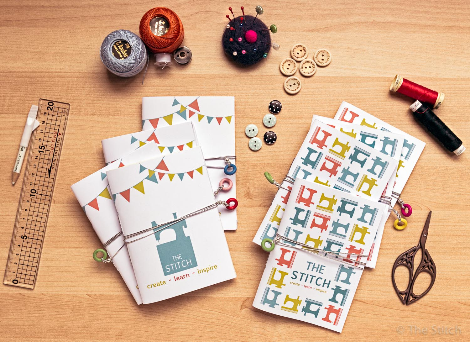 Handmade 'The Stitch' Notebooks for WN Feast Fundraiser
