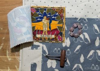fabric zodiac booklet is a great idea